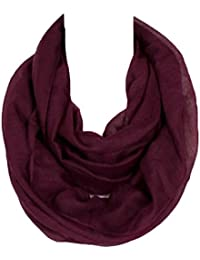 SUNDAYROSE Lightweight Infinity Scarf Solid Color Soft Wrap Shawl