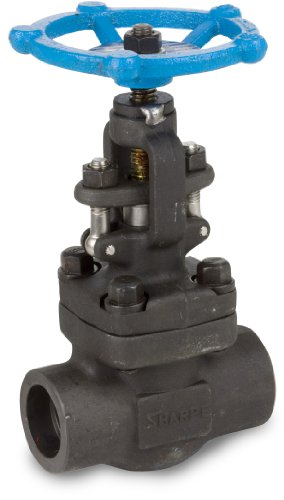 Sharpe Valves 44834 Series Carbon Steel Globe Valve, Bolted Bonnet, Inline, 1/2