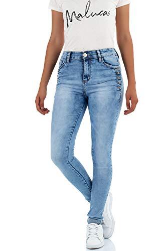 malucas Skinny Claro Mujer Azul Vaqueros para 0qxr6054
