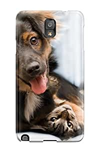 New Design Shatterproof Case For Galaxy Note 3 (cat And Dog) 1302671K93996351