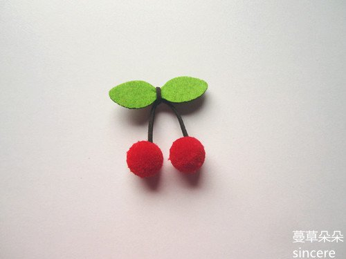 Felted wool brooch Jaese cherry jewelry ()