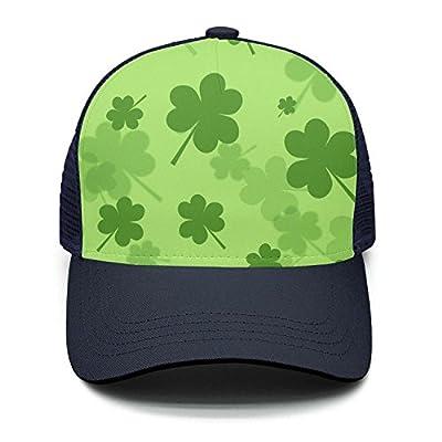 Taiyesybbq Casual Baseball Caps Perfect Shamrock Pattern Adjustable Mesh Snapback Hats