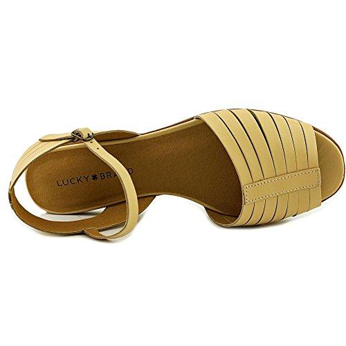 Nude Toe US 6 Slingback 5 Brand Sandal Channing Lucky Women Peep wnfaF84xqY