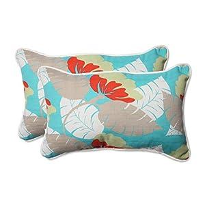 Pillow Perfect Outdoor/Indoor Avia Surf Rectangular Throw Pillow (Set of 2) by Pillow Perfect