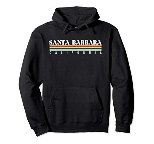 Santa Barbara California Retro Vintage Hoodie ()