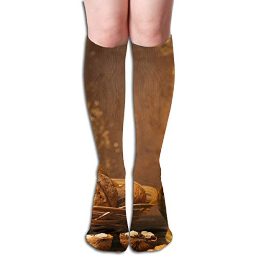 Agilitynoun Women's Socks Knee High Thigh Long Stocking Walnut Wine Winter Warm Sexy Stocks
