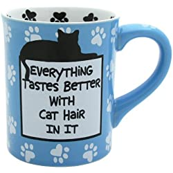 "Our Name is Mud ""Cat Hair"" Stoneware Mug, 16 oz."
