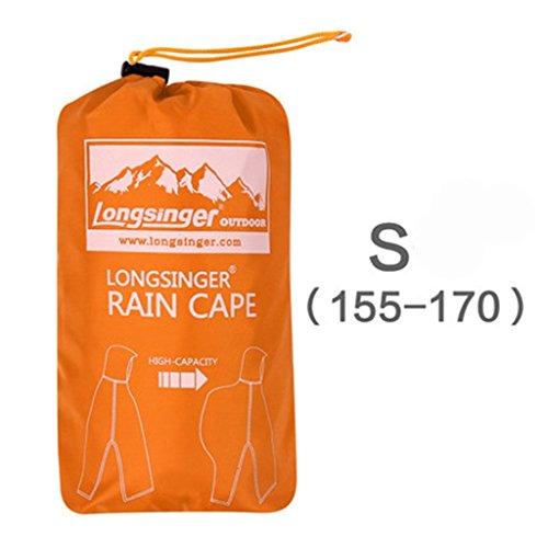 Imperméable Extérieur L'eau s155 couleur Extérieur G L'alpinisme Pour À Trois 170cm Raincoat H Multifonctionnel L170 Poncho 185cm 0qn6Wf5p
