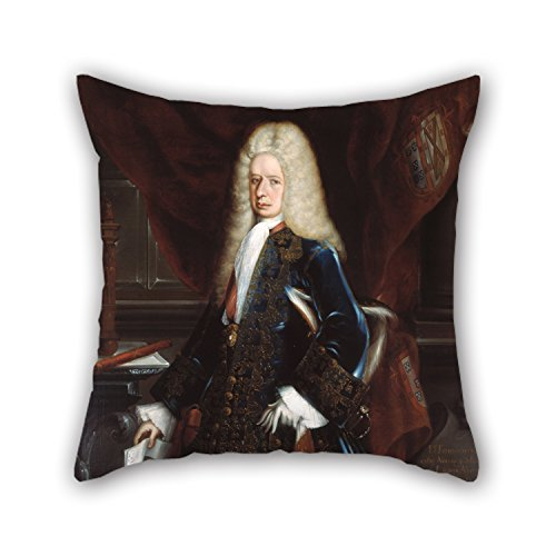 Pillow Covers Of Oil Painting Juan Rodríguez Juárez - Portrait Of The Viceroy, The Duke Of Linares,for Home Theater,kids Room,living Room,monther,bar 16 X 16 Inches / 40 By 40 Cm(each Side)