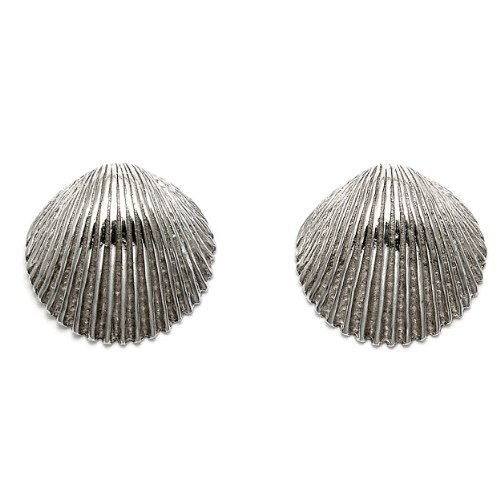 Sterling Silver Scallop Shell Stud ()