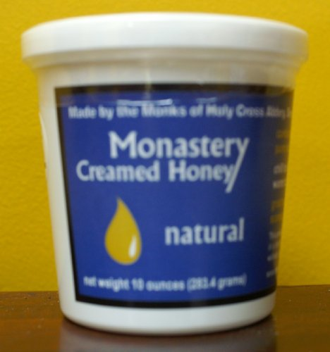 - Monastery Creamed Honey - Pure Raw Virginia Honey - 2 Pack (10 oz per container)
