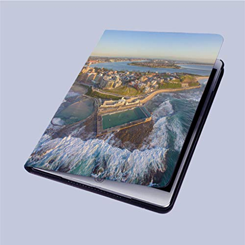 Compatible with 3D Printed iPad 9.7 Case,Newcastle-Ocean-Baths-at-Sunrise Lightweight Anti-Scratch Shell Auto Sleep/Wake,Back Protector Cover iPad 9.7