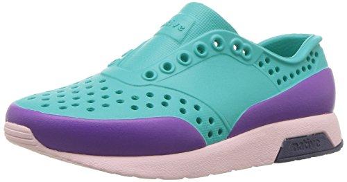 Native Shoes Unisex Lennox Child Sneaker, Glacier Green/Cold Pink/Regatta Blue/Starfish Block, 13 Medium US Little Kid