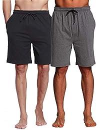 1914d76b28 Men's Sleep Shorts - 100% Cotton Knit Sleep Shorts & Lounge Wear