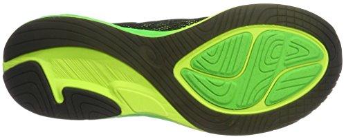 Asics T722N, Scapre da Corsa Uomo Multicolore (Black/Green Gecko/Safety Yellow)