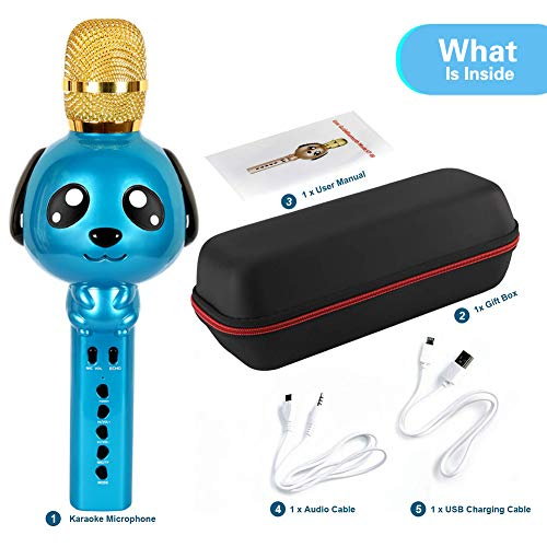 Purchase Kids Karaoke Machine Microphone for Kids Karaoke Microphone Bluetooth Microphone Wireless M...