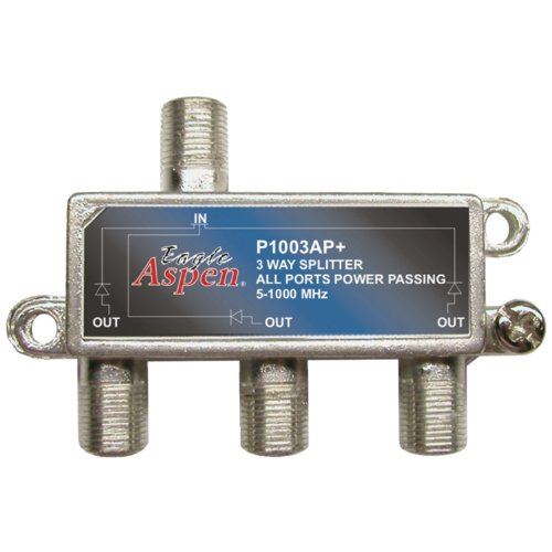 Eagle Aspen 500303 P1003ap+ 1000 Mhz Splitter (3 Way) (1000mhz Splitter Aspen Eagle)
