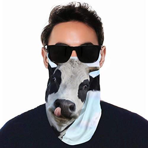 フェイスカバー Uvカット ネックガード 冷感 夏用 日焼け防止 飛沫防止 耳かけタイプ レディース メンズ Funny Smiling Cow