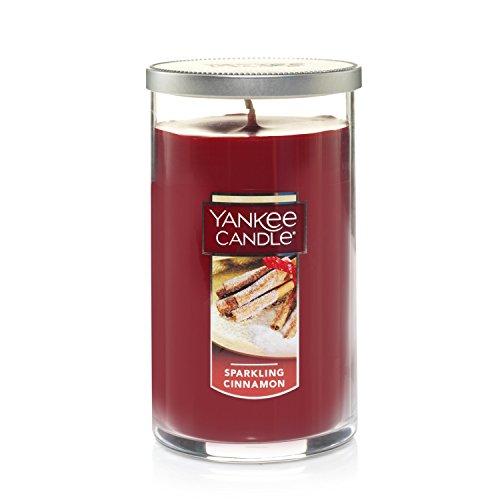 Yankee Candle Medium Perfect Pillar Candle, Sparkling Cinnamon