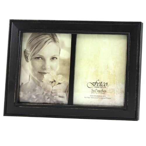 Fetco Home Decor Longwood Frame Rustic Black Picture Frames