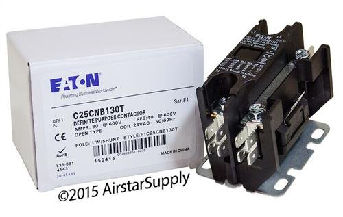 Siemens 45EG10AJA - Replaced by Eaton/Cutler Hammer Contactor, 1-Pole with Shunt, 30 Amp, 24 VAC Coil Voltage