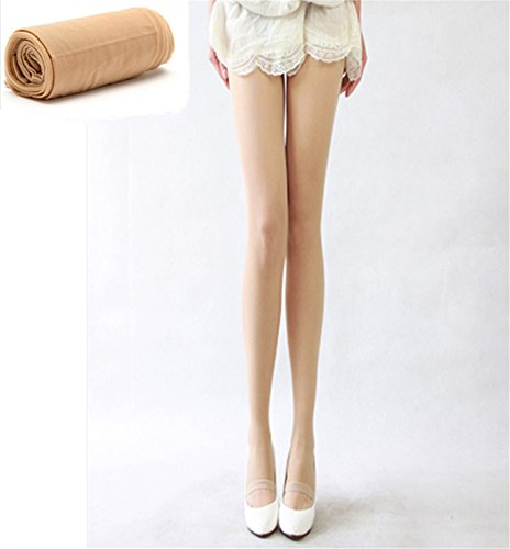 Interesting 15 Denier Pantyhose Ultra-thin Cored Wire Solid Contact Seamless Thin T Foot Crotch Stockings