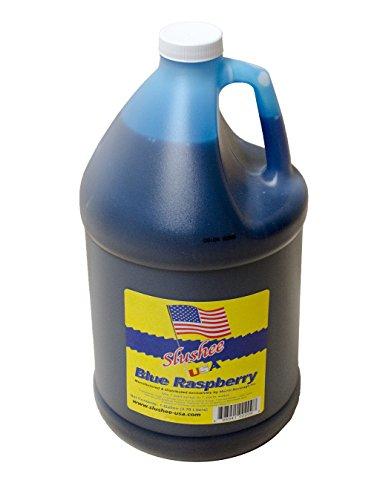 Blue Raspberry Slushie Mix -1 Gallon - 128 oz (yields approximately 96-12oz servings) Mixing Ratio 7 (Water) to 1 (Product Mix) (Slushy Mix compare prices)