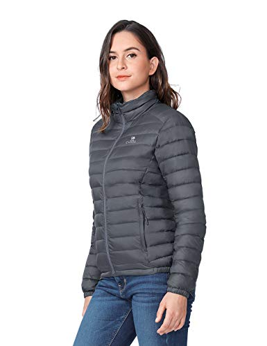 Camel Womens Down Jacket Lightweight Packable Puffer Down Coats Short Parka Jackets Winter Coats with 4 Pockets(Grey,XXXL) (Best Down Coats For Ladies)