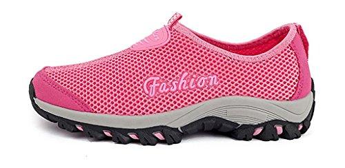 Trocknend Aquaschuhe Sneakers Wasserschuhe Schuhe Damen Rose Atmungsaktives Strandschuhe Hiking Schnell Herren Mesh Trekking Turnschuhe Rot Outdoor Eagsouni Wanderschuhe qvCxwUEC