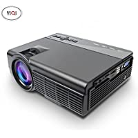 CPX-Q5 1500 lumens LED Projector, Mini Video Projector 1080P Portable Wi-Fi Smart Pico Projector, Max 120 Screen Ideal for IOS/ Android/ Laptop/ iPad/ USB flash driver/PC devices