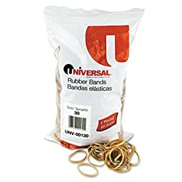 Universal - 6 Pack - Rubber Bands Size 30 2 X 1/8 1100 Bands/1Lb Pack \