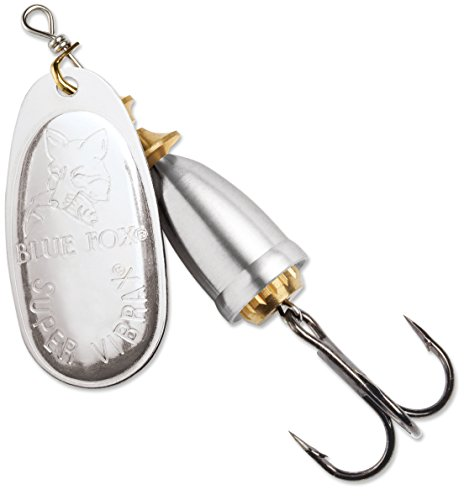 Blue Fox Classic Vibrax 06 Plated 5/8 (Silver/Silver, Size- 3.75)
