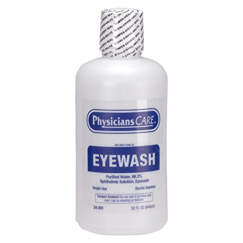 Eye Wash Solution Replacement Bottle - PhysiciansCare by First Aid Only 24-201 Eye Wash Solution, 32 ounce Bottle