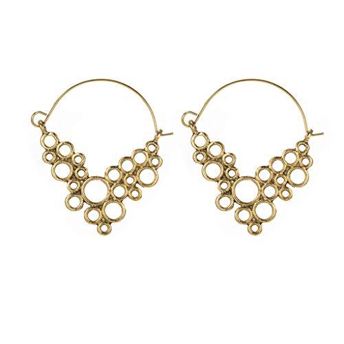 - Geometric Metal Dangle Earrings Size Round Grape Bunches Shaped Earrings for Women Teen Girls Ear Jewelry Vintage (gold)