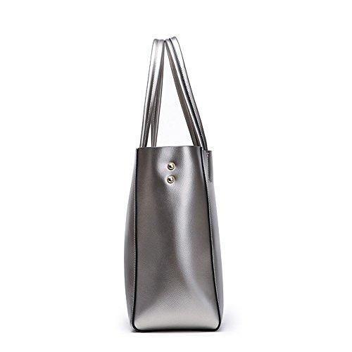 Tote À Simple couleur Argent Bandoulière 31cm Sac Grande Bagbagjj Polyvalent Shopping Ladies Casual 31 Main Sacs Gris Bag Taille 15 Capacité Pour Noir Et Femme FOCxnqwtx