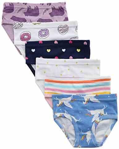 benetia Toddller Girls' Underwear Baby Soft Cotton Panties Little Kids Assorted Briefs (Pack of 6)