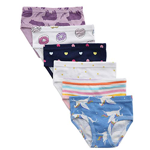 benetia Girls Underwear Undies Toddler Panties Baby Cotton Soft 6-Pack Size 2t 3t -