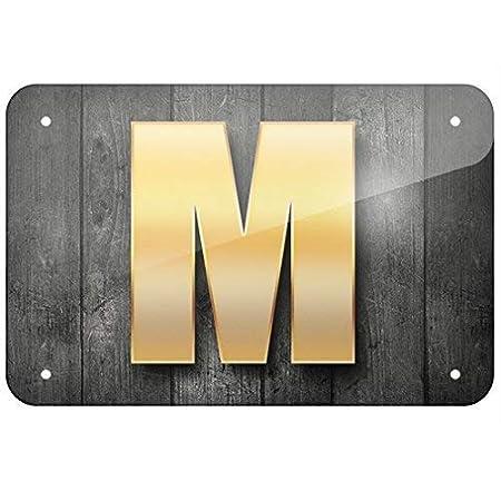 Unoopler Letrero diseño de Letras M de Madera Negra, decoración de ...