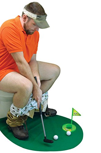 Fairly Odd Novelties Potty Putter Toilet Time Golf Game