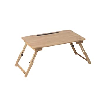 XUERUI Plegable Mesa 100% Portátil Plegable Bambú Ordenador ...