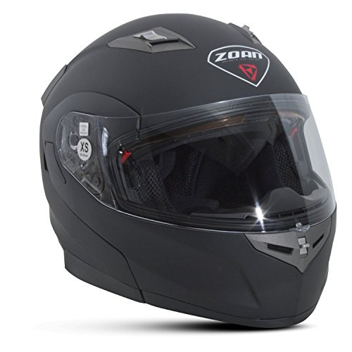 Zoan Flux 4.1 Matte Black Electric Lens Shield Modular Flip Up Snowmobile Helmet Large