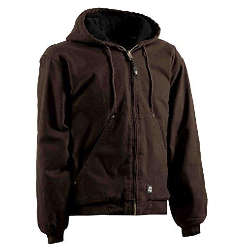Berne Apparel HJ375 Men's Washed Hooded Jacket Quilt Line...