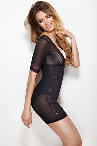 Abito Mitex Dress Glossy Nero Modellante WqWBF1AT