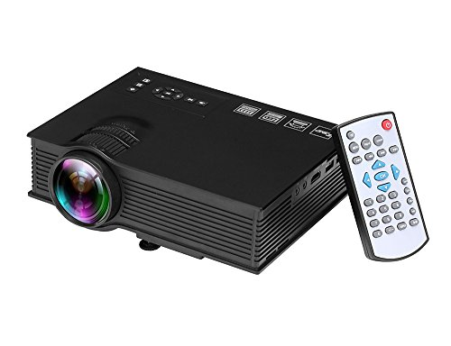 1200 lumens 800 480 led projector multimedia portable for Mini projector for macbook