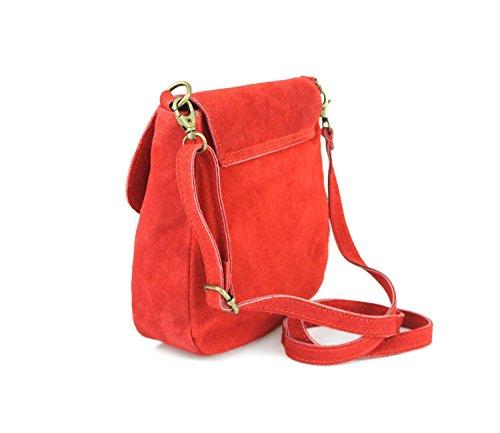 Women's ITALYSHOP24 Bag cm BxHxT Green ca COM Body Red Green 20x19x6 Cross wp1gwq4
