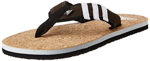 adidas Men's Beach Cork Thong Ms Crakha,  Reabrn and Black Flip – Flops and House Slippers