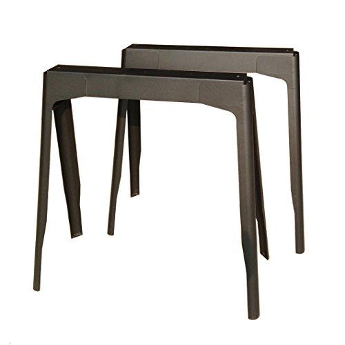 European Black Steel Table Legs Solid Iron Bar Laptop Desk