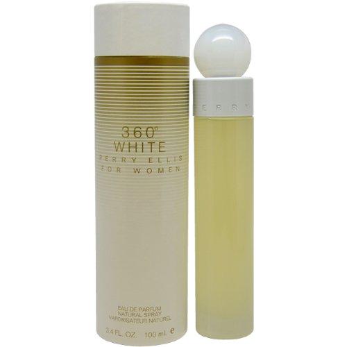 Perry Ellis 360 Blanc par Perry Ellis pour les femmes. Eau De Parfum Spray 3,4 onces