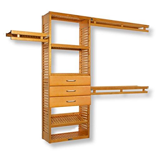 John Louis Home 12in. Deep Simplicity Organizer- 3 Drawers (8in. Deep) Honey Maple Finish