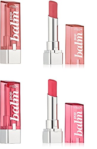 (Pack of 2) - L'oreal Paris Colour Riche Balm Pop MIXED SET, 430 Fiery Red/ 440 Electric Pink, 0.1 Ounce each